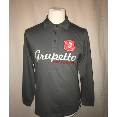 Polo Grupetto Gris/Rouge...