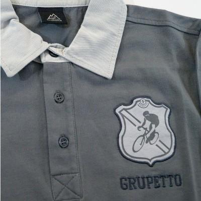 Polo Grupetto Gris Manches...