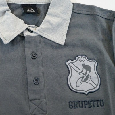 Polo Grupetto Gris ML