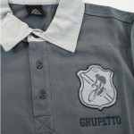 Polo Grupetto Gris Manches...